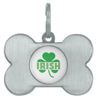 Irish cloverleaf shamrock Z9t2d Pet Tags