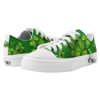 Irish Clovers Clusters Printed Shoes