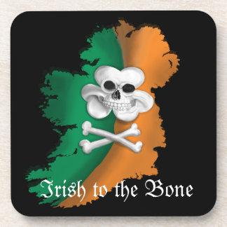 IRISH COASTER. ST PATRICKS IRISH TO THE BONE SKULL COASTER