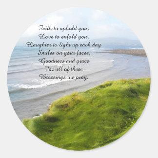 Irish Coastline and Prayer Stickers