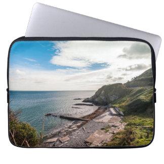 Irish coastline view laptop sleeve