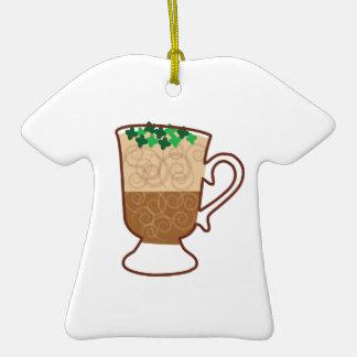 Irish Coffee Ceramic T-Shirt Ornament