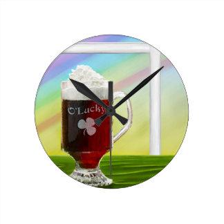 Irish Coffee Rainbow -holiday- -cards- Wall Clock