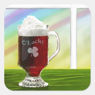 Irish Coffee Rainbow -holiday- -cards- Sticker