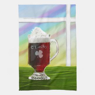 Irish Coffee Rainbow -holiday- -cards- Hand Towels