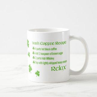 Irish Coffee Recipe Shamrock Mug