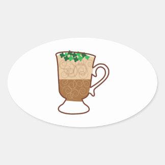 Irish Coffee Oval Sticker
