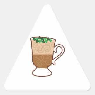 Irish Coffee Triangle Sticker
