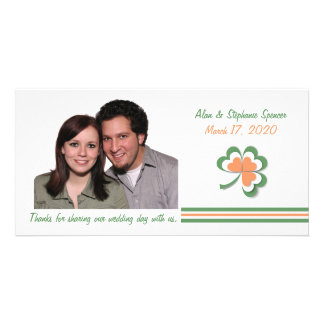 Irish Colors Clover Thank You Photo Cards