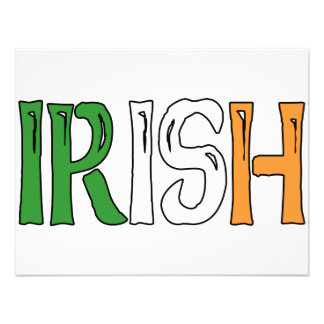 Irish Colors Personalized Invites