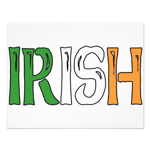 Irish Colors Personalized Invites