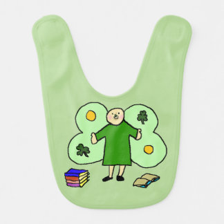 Irish Confuzzled Fae Baby Bib