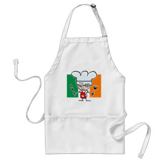 Irish cooking apron with funny cartoon chef