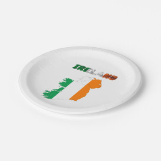 Irish country flag paper plate