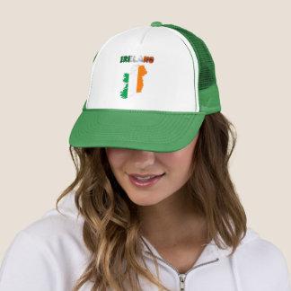 Irish country flag trucker hat