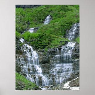 Irish Countryside Waterfall Poster