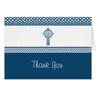 Irish Cross   Thank You Card