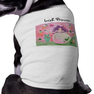 Irish Cupcake Princess Painting Sleeveless Dog Shirt