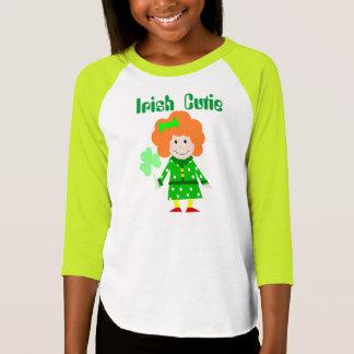 """""""Irish Cutie"""" Girls Raglan Shirt"""