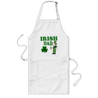 Irish Dad With Green Beer and Pipe Apron