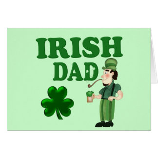 Irish Dad With Green Beer and Pipe Card