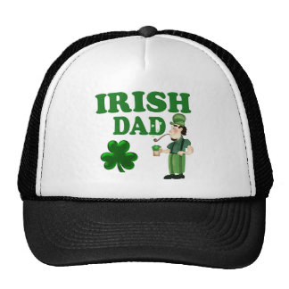 Irish Dad With Green Beer and Pipe Hats