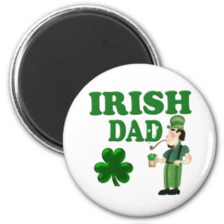 Irish Dad With Green Beer and Pipe Refrigerator Magnets