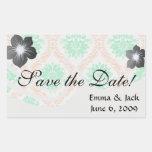 irish damask rectangular stickers