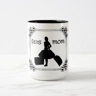 Irish Dance Celtic Knot Feis Mom Two-Tone Coffee Mug