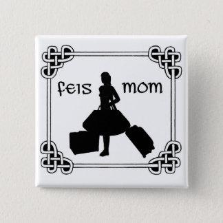 Irish Dance Feis Mom 15 Cm Square Badge