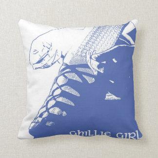 "Irish Dance ""Ghillie Girl"" Throw Pillow - Blue"