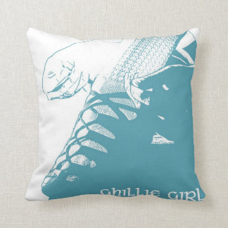 "Irish Dance ""Ghillie Girl"" Throw Pillow - Teal"