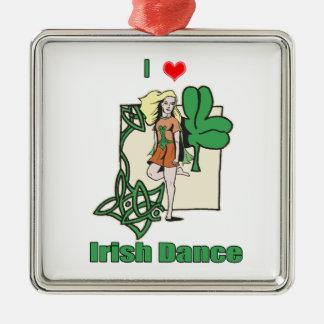 Irish dance heart metal ornament