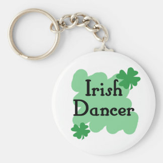 Irish dancer basic round button key ring