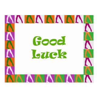 Irish Dancers: Good Luck Postcard