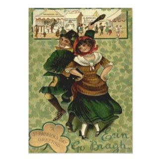 Irish Dancing Erin Go Braugh Shillelagh 13 Cm X 18 Cm Invitation Card