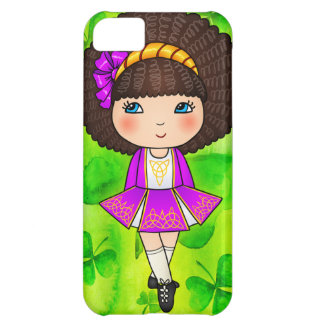 Irish dancing girl in violet dress iPhone 5C case