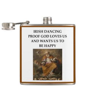 irish dancing hip flask