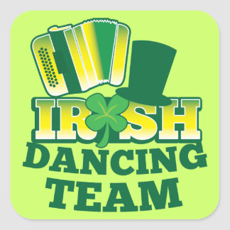 Irish Dancing TEAM Square Sticker