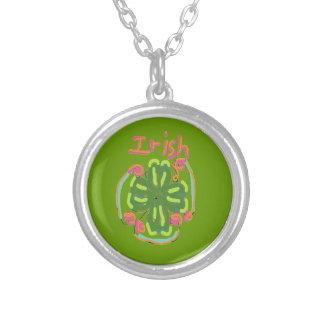 Irish Design Round Pendant Necklace