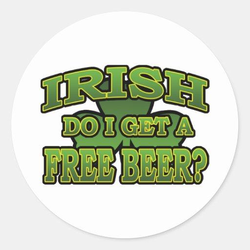 Irish Do I Get a Free Beer Sticker