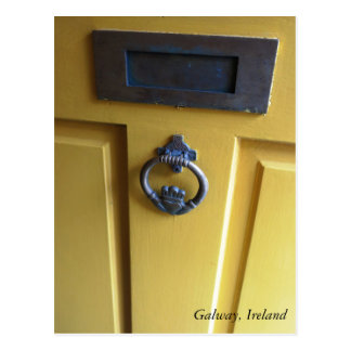 Irish Door Knocker post card