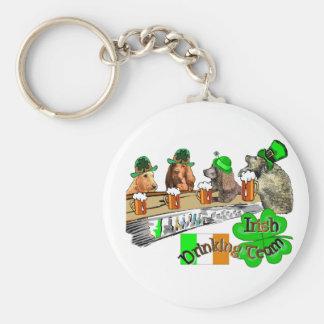 Irish Drinking Team Basic Round Button Key Ring