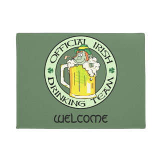 Irish Drinking Team Doormat