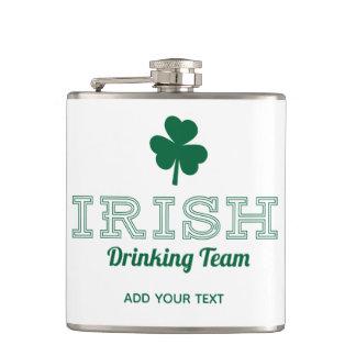 Irish Drinking Team Funny St. Patricks Day Hip Flask
