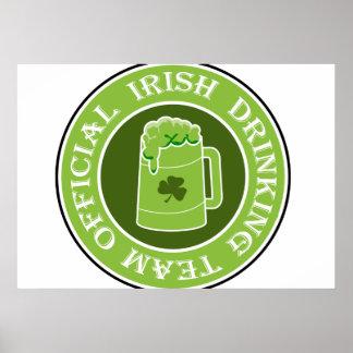 Irish Drinking Team Poster