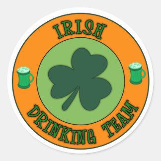 Irish Drinking Team Round Sticker