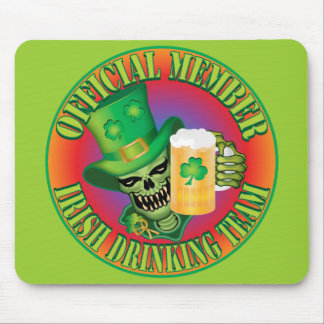 Irish Drinking Team Skull Mouse Pad