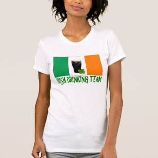 Irish Drinking Team St Patricks or St Paddys Flag. Tee Shirt