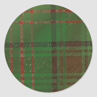 Irish Dublin Plaid Tartan Classic Round Sticker